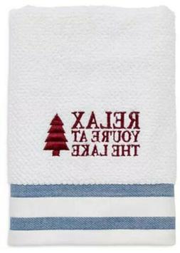 Avanti Linens Lake Words Hand Towel, White