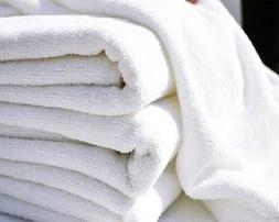 1 dozen white hair/bath towels 20x40 wholesale lot utility t