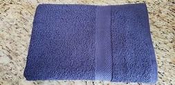 1 Navy Blue Cotton Craft Bath Towel / Lightweight `