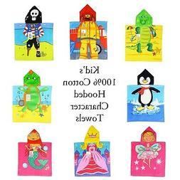 100% Cotton Kid's / Children's Hooded Bath / Beach Chara