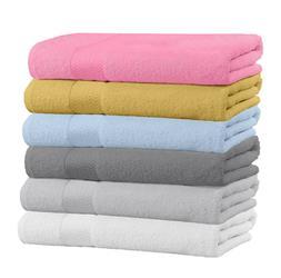 """100% Cotton Large Bath Towels 54"""" x 27"""" - Multi-Use Soft Bat"""