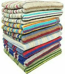 100% Cotton Striped Towels size 27 x 54 Great Quality Towels