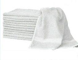 1 dozen white  hair/bath towels 20x40 100% cotton wholesale