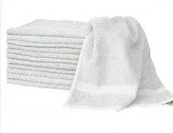 1 dozen white  hair/bath towels 20x40 100% cotton wholesale