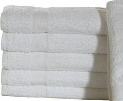 "12 new 24x48 white hotel ""belize"" brand bath towels hotel mo"