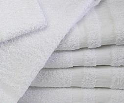 12 new white 22x44 gym salon spa bath towels cotton georgia