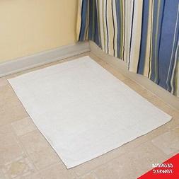 12 new white cotton hotel bath mats 6.50#dz 20x30 economy gr