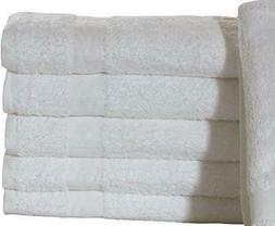 12 PACK BATH TOWELS 22X44 WHITE 100% COTTON 6 LBS PREMIER BR