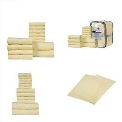 HILLFAIR 12 PIECE- 600 GSM Cotton Bath Towels Set Hotel Spa