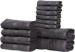 Luxury Oversized 600 GSM Cotton Bath Towels 2-12 Piece Set H