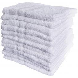 12 New White Cotton Hotel Bath Towels 20x40 Royal Regal Bran