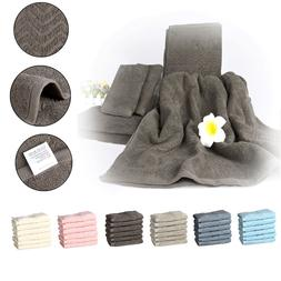 2 Bath Towels+2 Hand Towels+2 Washcloths 100% Plush Cotton E