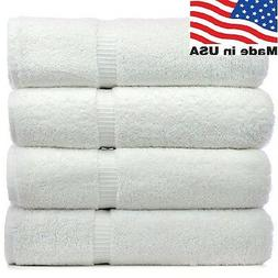 2 new white made in the usa bath towels 24x50 11# quality sa