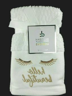 2 Pack Deborah Connolly Designs Bath Hand Towels Hello Beaut
