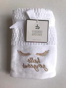 2 pack designs bath hand towels hello