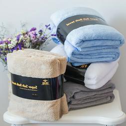 "2 PACK SUPER SOFT LUXURY BATH TOWELS 30""*60"" 6 PURE COLORS"