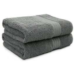 2-Piece Bath Towels Set for Bathroom | 100% Soft Cotton Turk