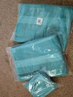 """The Big One""  Solid Bath Towels 30"" x 54"" Light Teal AND  H"
