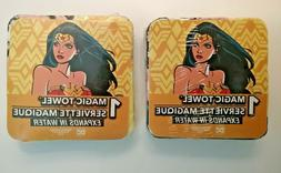 2 Wonder Woman Magic Towels Expands In Water Soak In Warm Wa