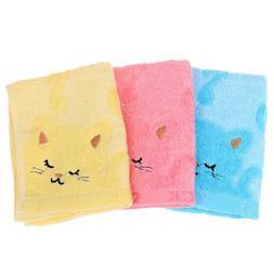 25*50CM Bath Towel Music Cat Pattern Bathroom Accessories Ba