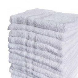3 bright white bath towels 22x44 size salon gym and home use
