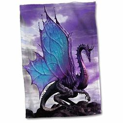 3D Rose Fairytale Dragon Towel, 15 x 22