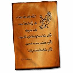 3D Rose Isaiah 40 31 Bible Verse with Eagle Engraved into a