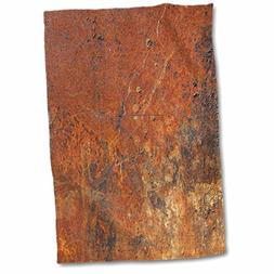 3D Rose Old Rust Hand/Sports Towel, 15 x 22