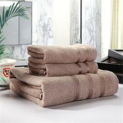 3Pcs Towel Bale Set 100% Bamboo Fiber Soft Luxury Face Hand