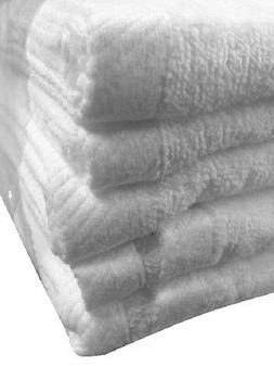 4 jumbo white velour hotel bath sheets towels 30x60 soft vel