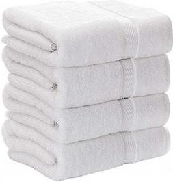 3 new white cotton hotel bath towels large 27x50 hotel premi