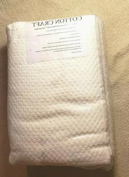 Cotton Craft 4 Pack Euro Spa Waffle Weave Bath Towels - Whit