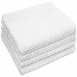 Cotton Craft - 4 Pack Euro Spa Waffle Weave Oversized Bath T