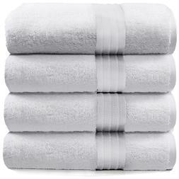 4-Piece Bath Towels Set for Bathroom   100% Soft Cotton Turk