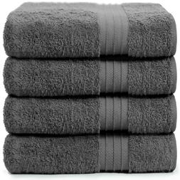 4-Piece Bath Towels Set for Bathroom | 100% Soft Cotton Turk