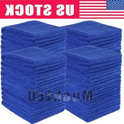 5-100Pcs Absorbent Microfiber Towel Car Home Kitchen Washing