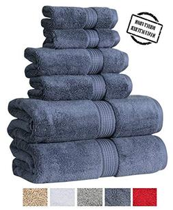 Avira Home 550 GSM, Zero Twist Cotton Towel Set 6 Pieces Set
