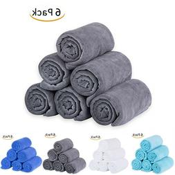 "6 Pack Bath Towels Extra-Absorbent - 27"" x 55"""