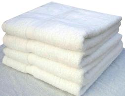 6 pack new bath towels 24x50 inches white 10.50 lbs 100% cot