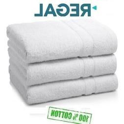 6 pack white regal collection 22x44 hotel bath towels natura