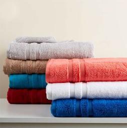 6 Piece Bath Towel Set Super Absorbent Fluffy Cotton Towels