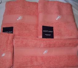 NAUTICA 6 Piece Nautica Beach Orange Embroidered Bath Towel