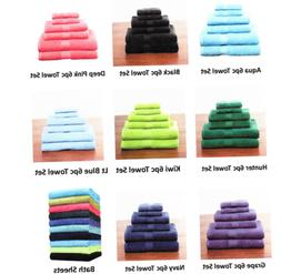 6-Piece 100% Cotton Towel Set - 2 Bath Towels, 2 Hand Towels