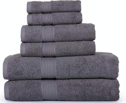 SPRINGFIELD LINEN 6 Piece Towels Set 2 BATH TOWEL, 2 HAND TO