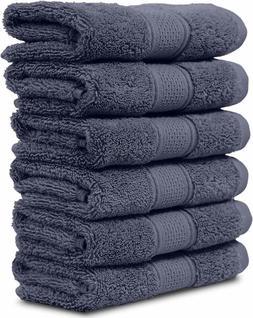 "Maura 6 Piece Washclothes Set. Extra Large 13""x13"" Premium T"