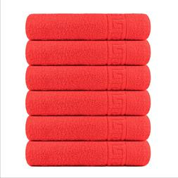 6 Pieces Hand or 6 pcc Bath Towels for Bathroom - 100% cotto