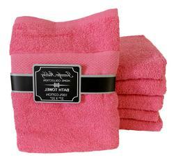 "6 Plush Velour Bath Towels Large 30"" x 60"" Bathroom Shower B"