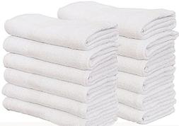 60 Pcs  white Bath Towel  Ringspun Cotton for Maximum Softne