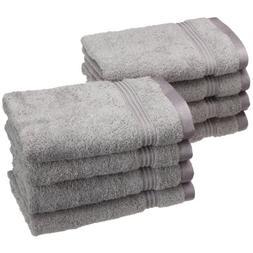 Superior 8-Piece 600 GSM Egyptian Cotton Hand Towel Set, Sil