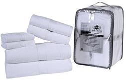HILLFAIR Premium 600 GSM 6 Piece Towel Set- 2 Bath Towels, 2